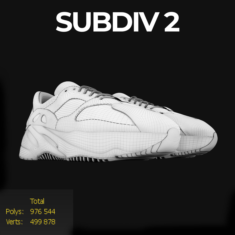 2ace8ffc6d5c ... adidas yeezy wave 700 3d model max obj mtl fbx mat 10 ...