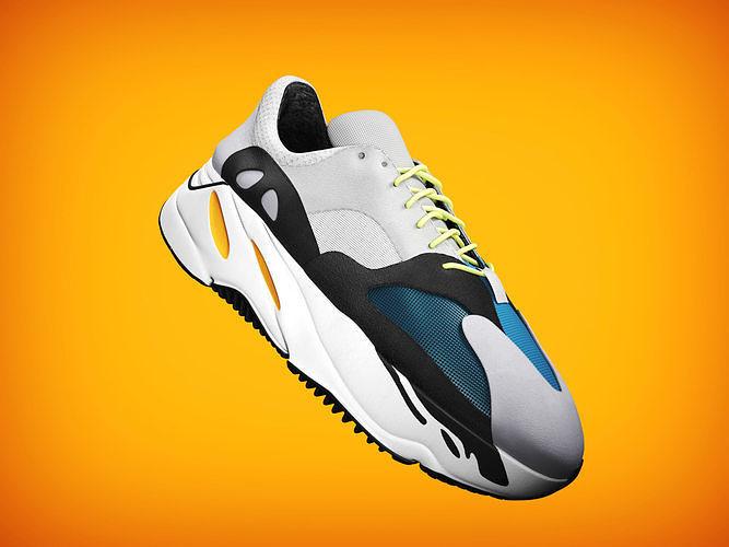 7db57cefe932cc 3D model adidas yeezy wave 700