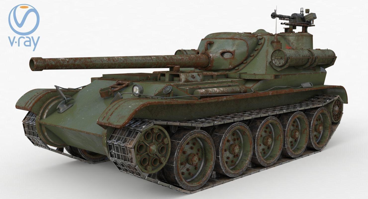 Tank Uralmash SU 101 Russian Vray