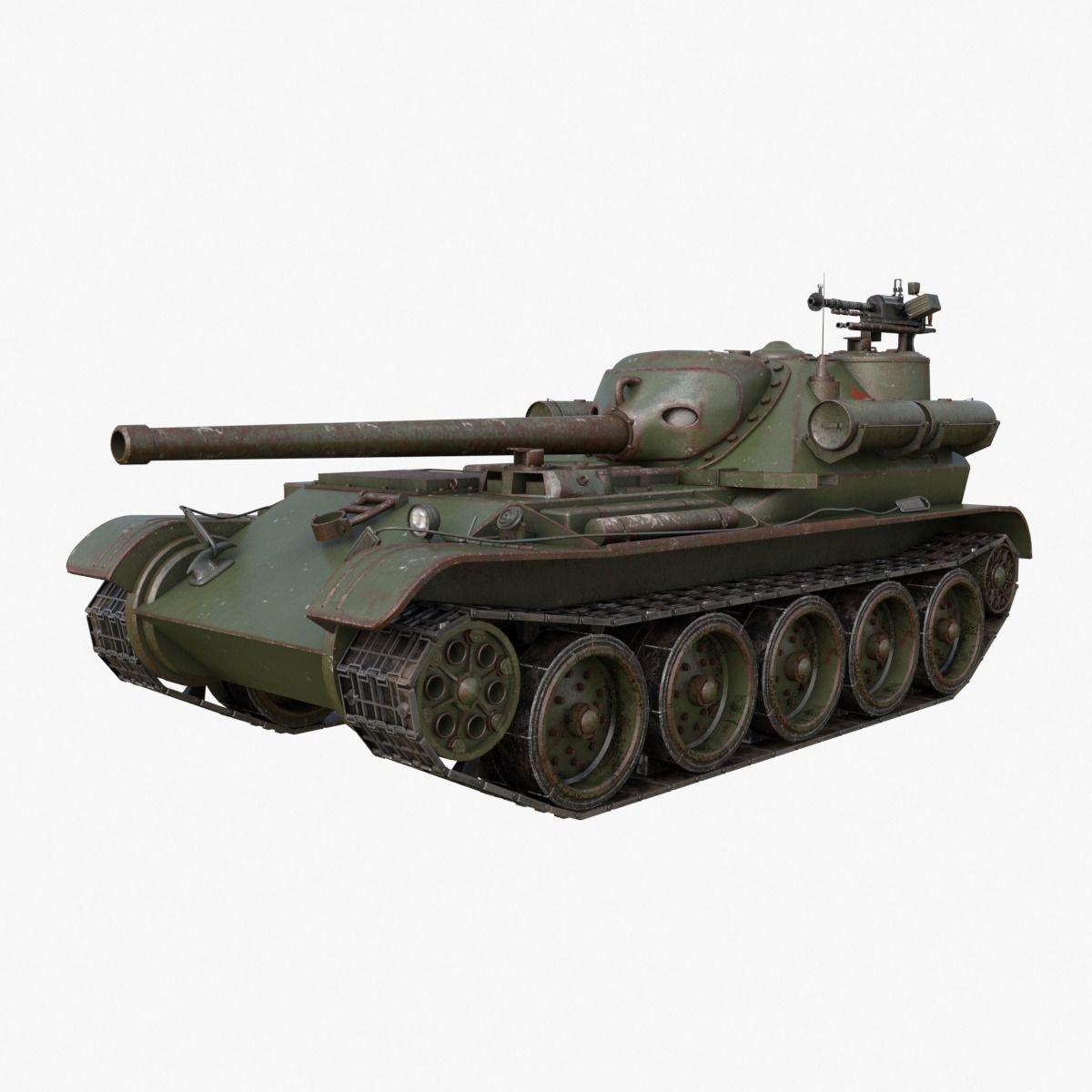 Tank Uralmash SU 101 Russian Mental ray