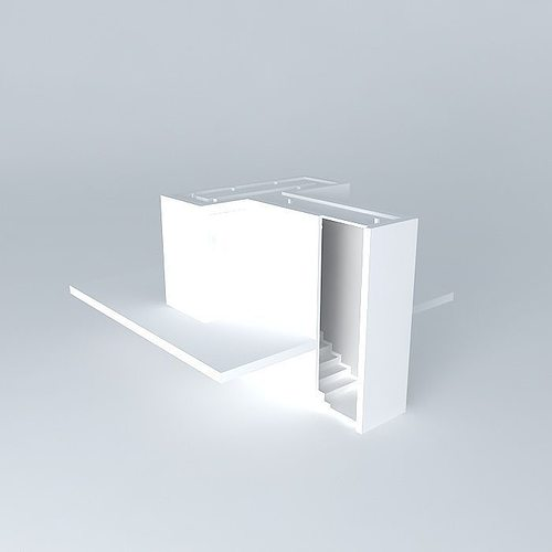 foyer featured wall 3d model max obj 3ds fbx stl dae 1