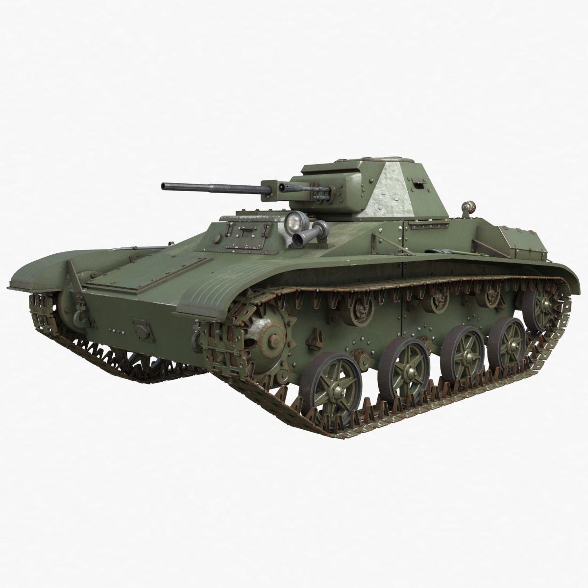 Tank T 60 Soviet Vray