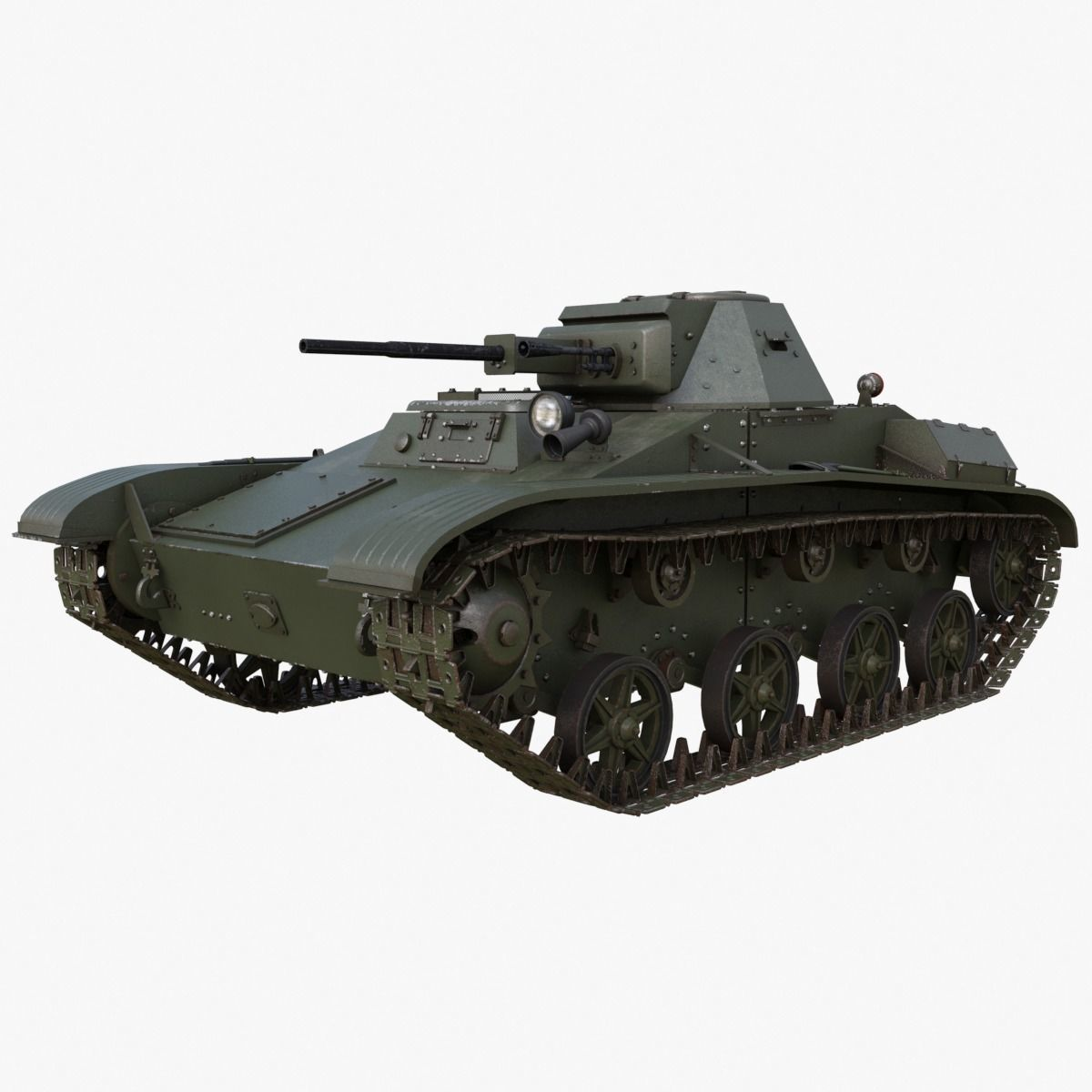 Tank T 60 Soviet Mental ray