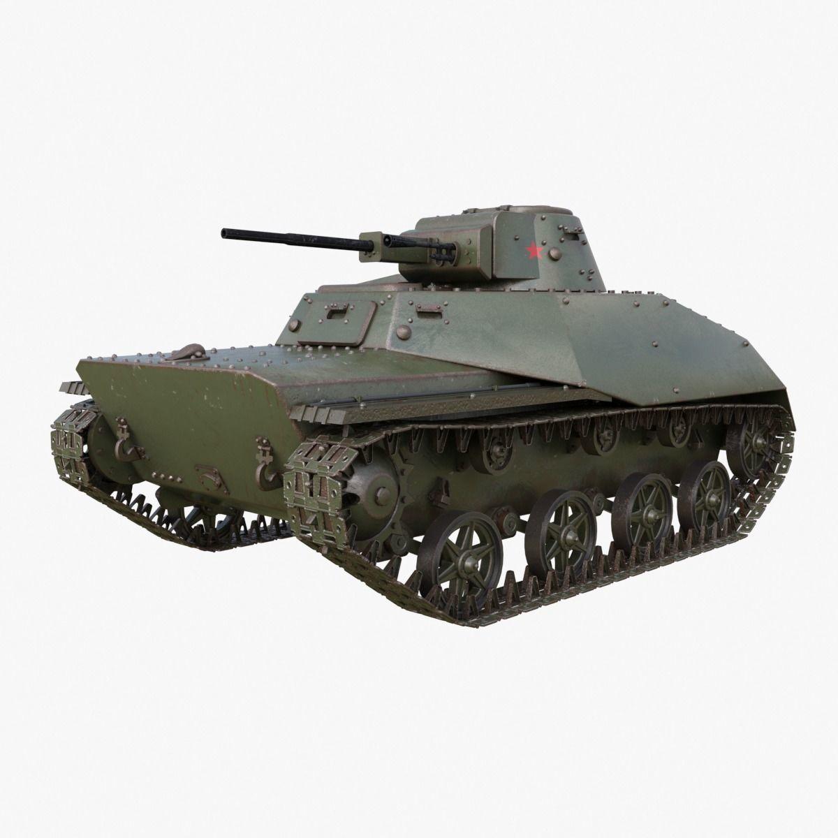 Tank T 40 Soviet Mental ray