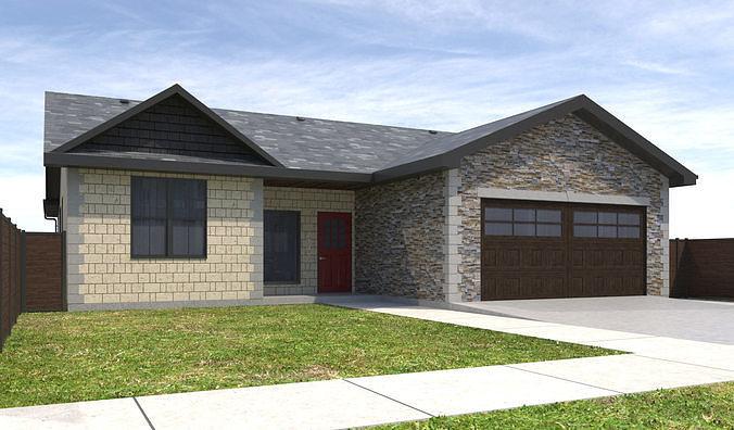 house-099 3d model max obj mtl 3ds fbx dwg 1