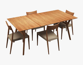 3D Wood Dining Set