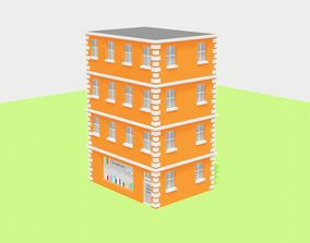 low poly apartment building by RICHARD HIND 3D model