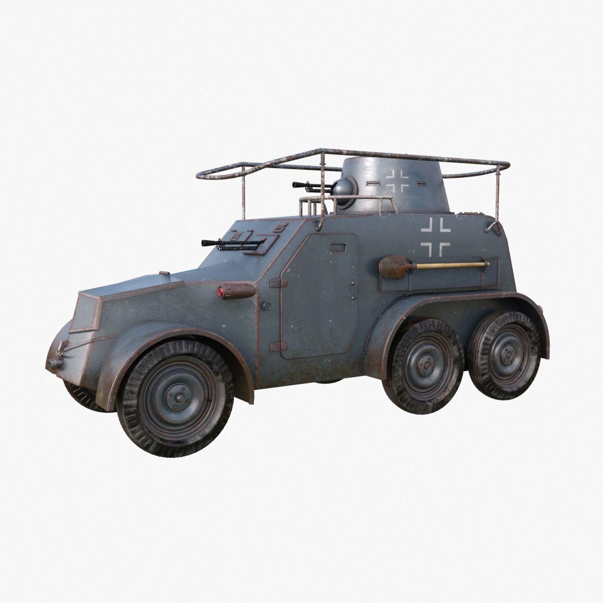 OA vz 30 Armoured Car German Mental Ray