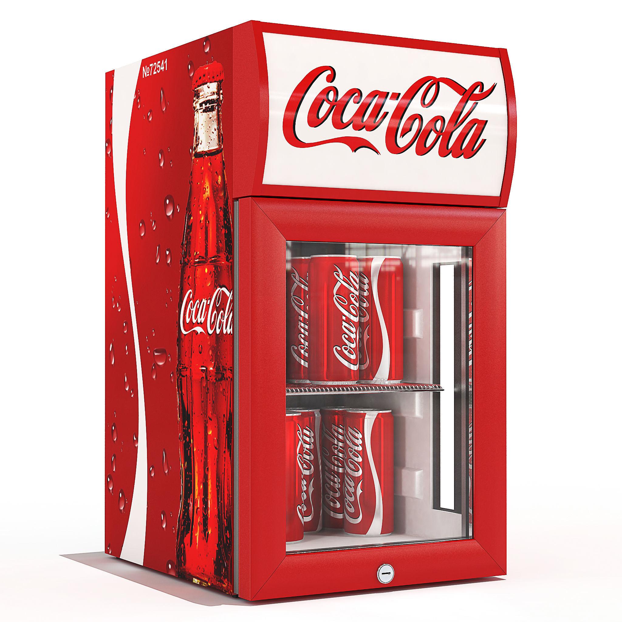 Coca Cola Fridge >> Coca Cola Small Fridge 3d Model Cgtrader