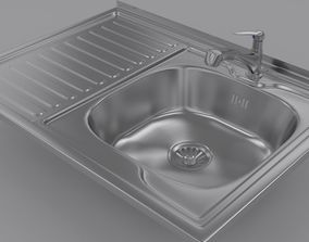 3D Sink and Fuacet
