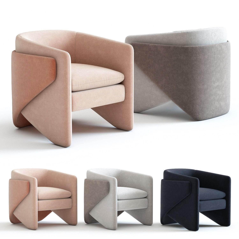 Outstanding West Elm Thea Chair 3D Model Alphanode Cool Chair Designs And Ideas Alphanodeonline