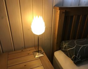 Pine Cone Bedside Table Lamp Shade 3D print model