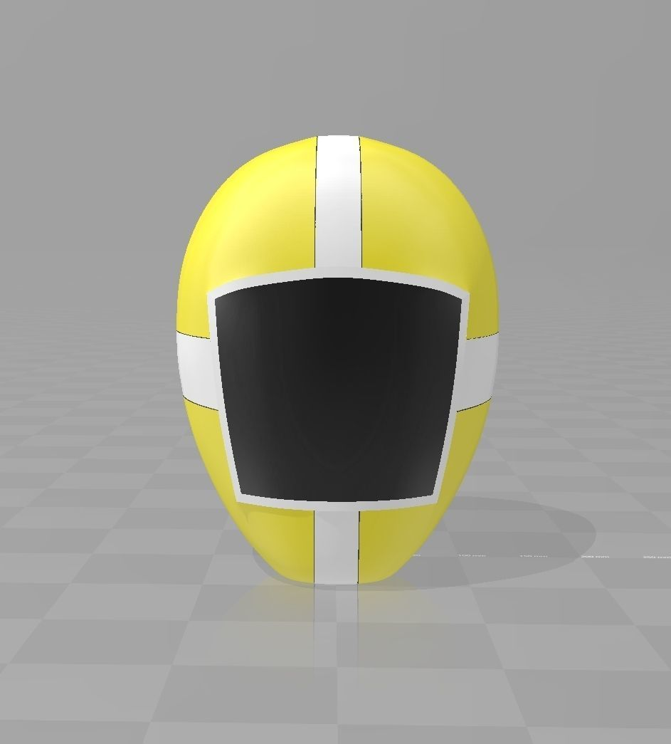Power Rangers KyuuKyuu Sentai GoGoFive GoYellow Helmet
