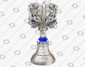 League of Legends Summoners Cup Trophy 3D Model