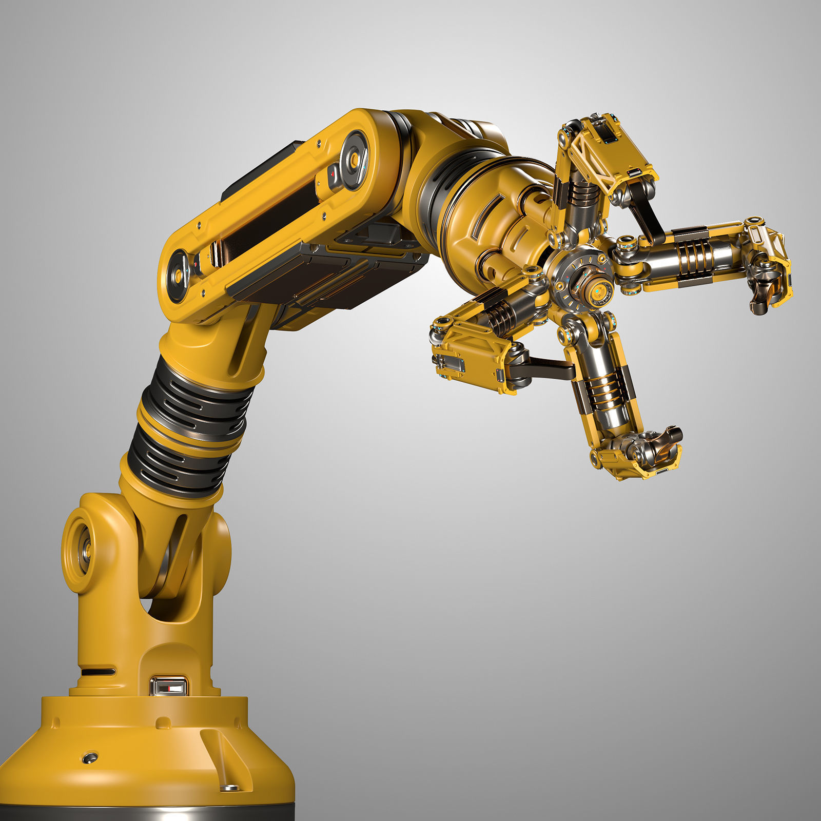 Robotic Arm Rigged and Animated