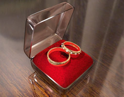 3D model Wedding rings
