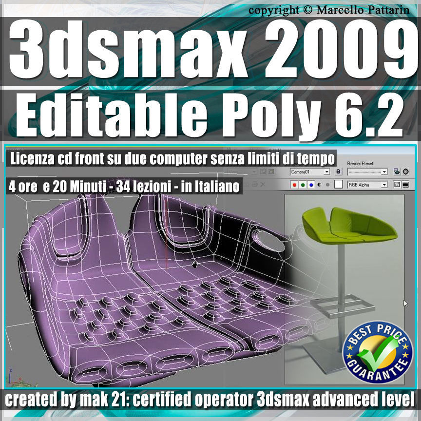 006 2 3ds max 2009 Editable Poly v 6 2 Italiano cd front