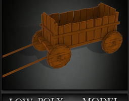 Trolley Low Poly 3D asset
