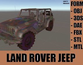 3D asset game-ready LAND ROVER MILITARY JEEP