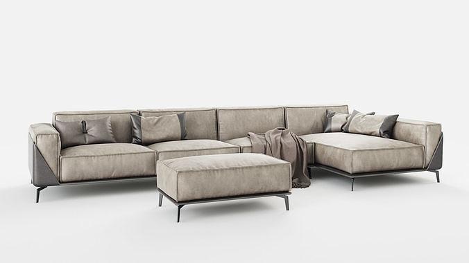 Dandy Sofa Edwin 3d Model Max Obj Mtl