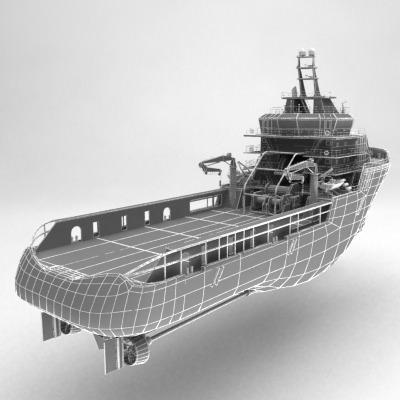 anchor handling tug supply ship 01 3d model max obj 3ds fbx 21