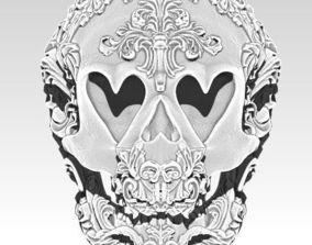 3D printable model Love Heart Skull