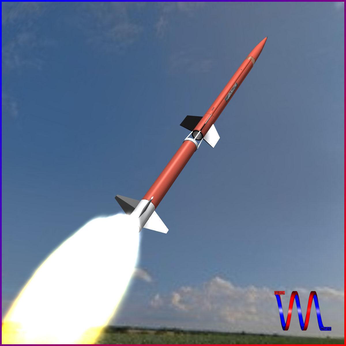 3d aerobee 170 rocket cgtrader