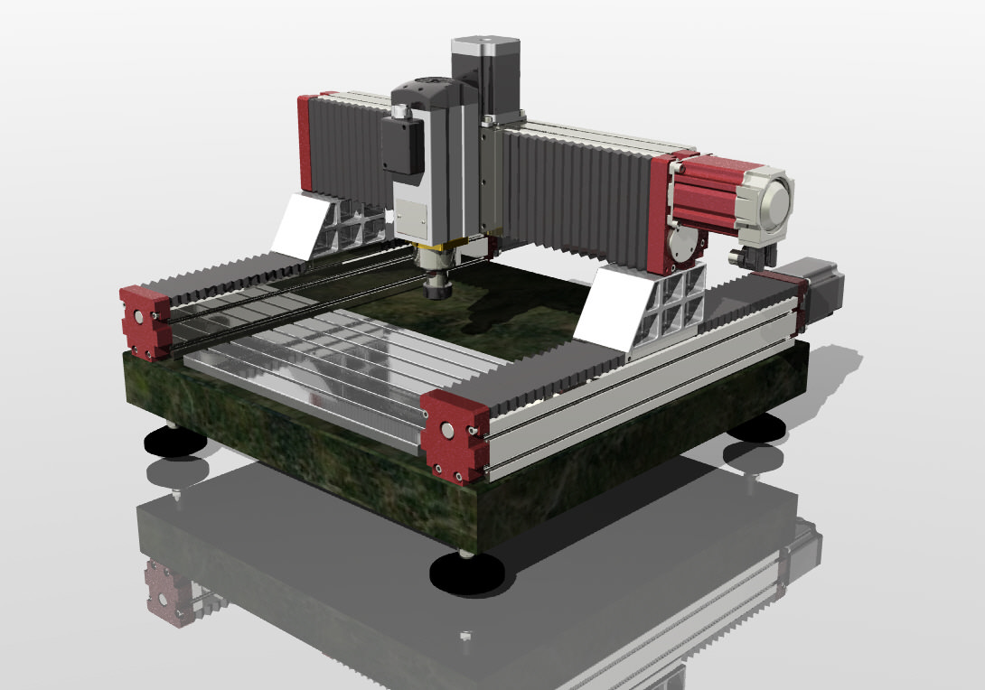 3D cnc servo machine
