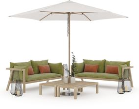 3D model Prestoria Umomoku Outdoor Lounge Set 02