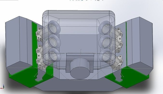 3D Audi V6 AFC AAH Custom engine intake trumpet   CGTrader