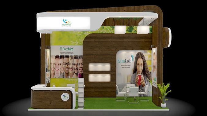 exhibition stand design 3 3d model max 1