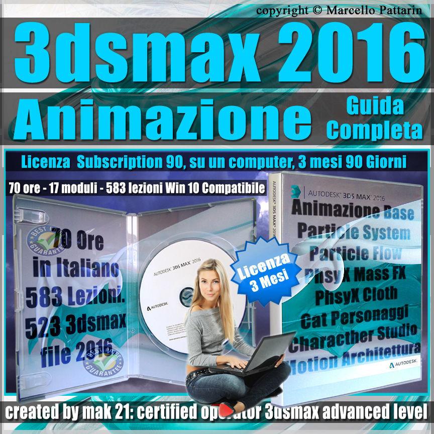 Corso 3ds max 2016 Animazione Guida Completa 3 mesi