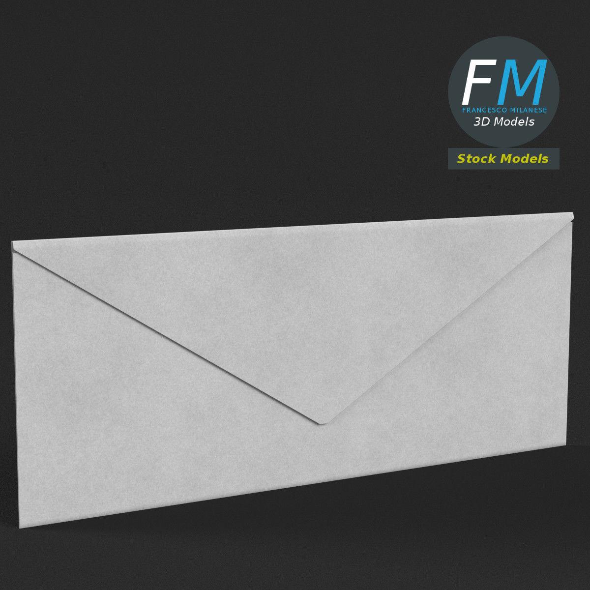Rectangular envelope closed