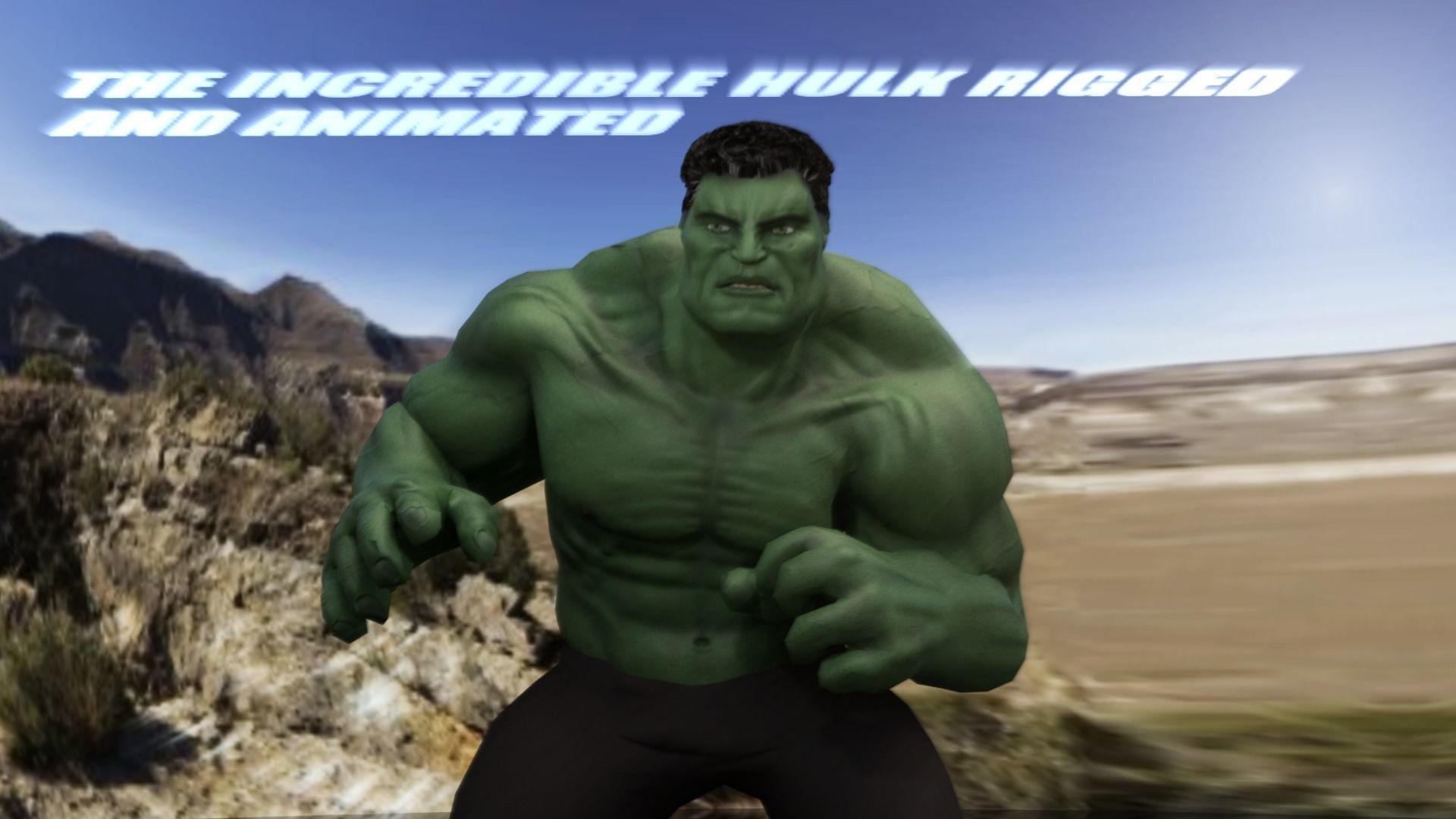 Hulk 2003 Inspired Rigged And Animated