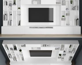 Tv stand 3D model game-ready cabinet