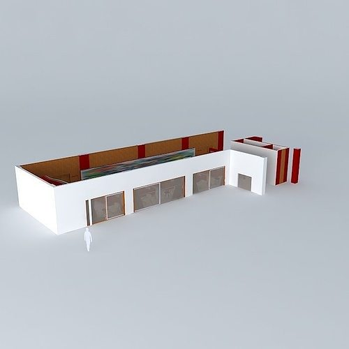 Cafe bar 3d model cgtrader for Food bar 3d model