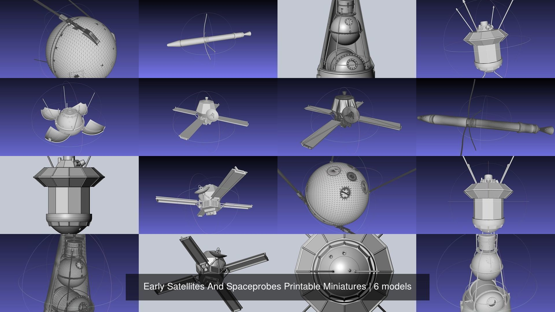 picture relating to Printable Miniatures known as Early Satellites And Spaceprobes Printable Miniatures 3D Style Assortment