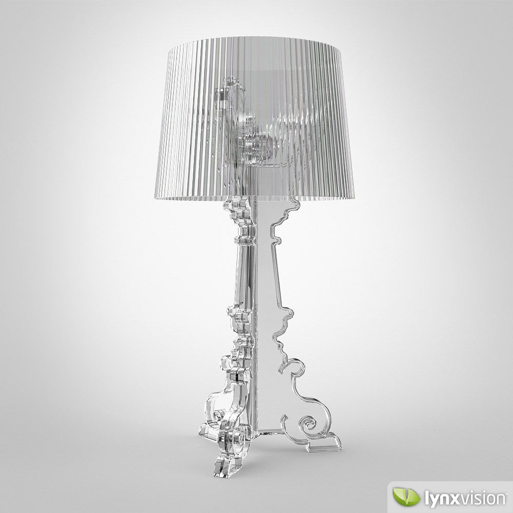 bourgie lamp by kartell d model max obj ds fbx mtl -  bourgie lamp by kartell d model max obj ds fbx mtl