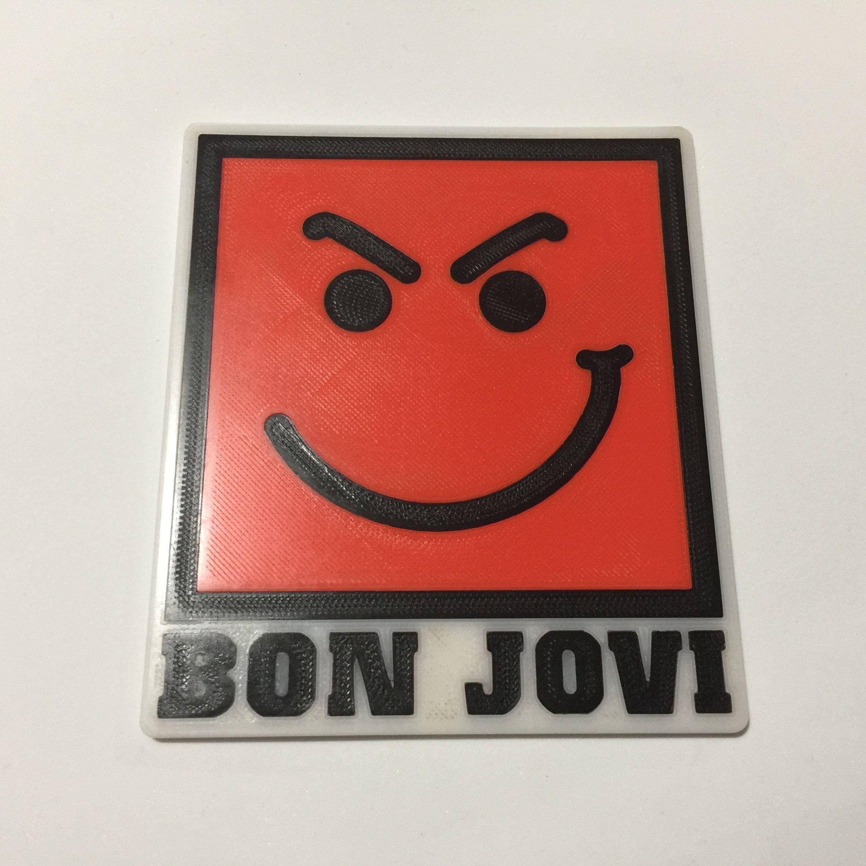 Bon Jovi Have A Nice Day Logo Coaster