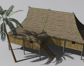 3D model Vietnam hut