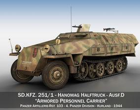 SDKFZ 251 Ausf D - Half-track - Pz-Art-Rgt 103 3D