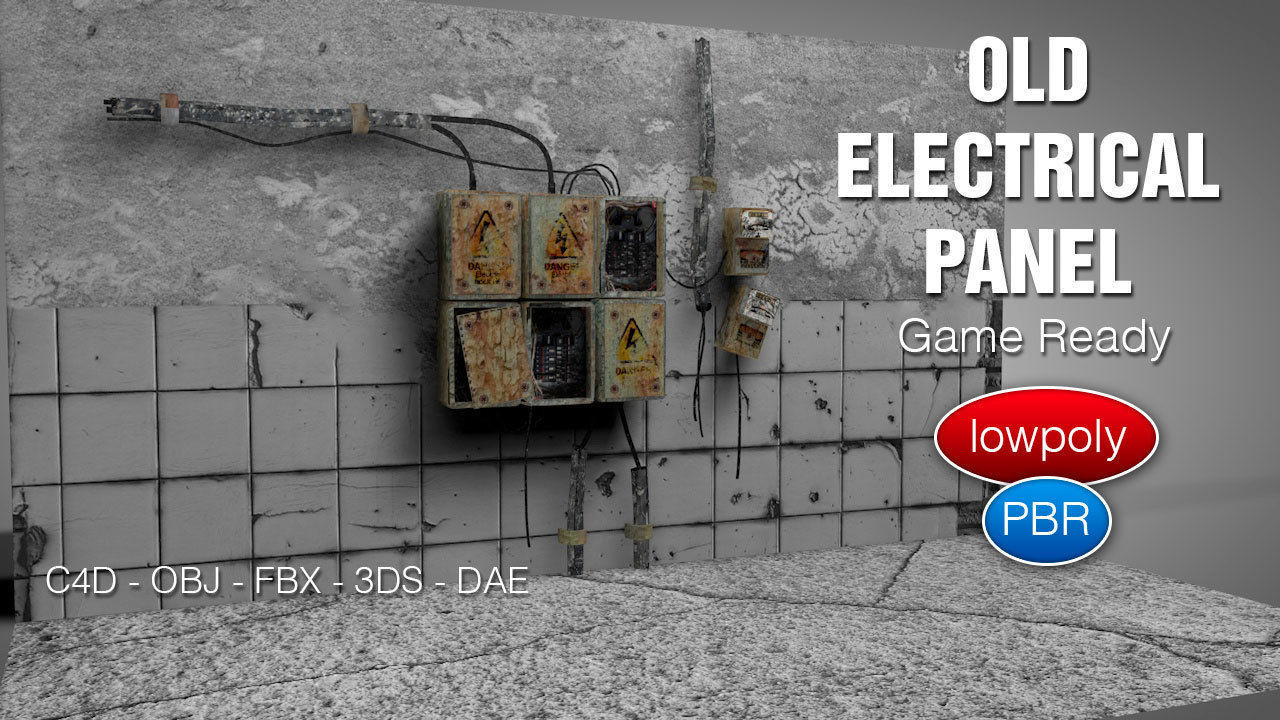 Old Electrical Panel | 3D model on