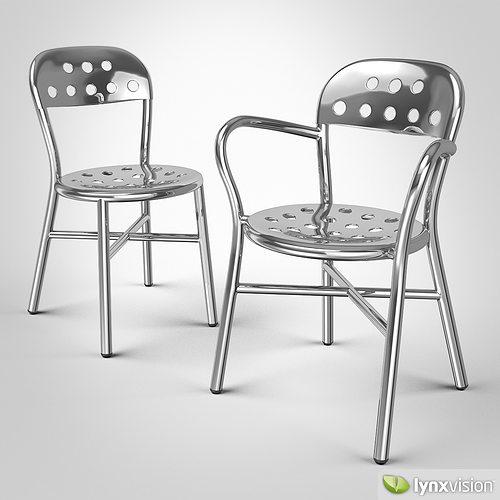 pipe chair 3d model max obj mtl fbx 1
