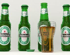 Realistic Heineken Beer Bottles 3D