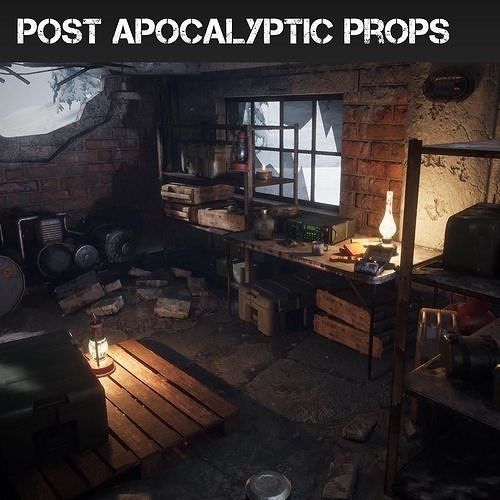 post apocalyptic props pack unreal engine 4 3d model uasset 1