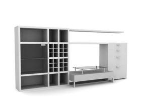 3D exhibition modern living room