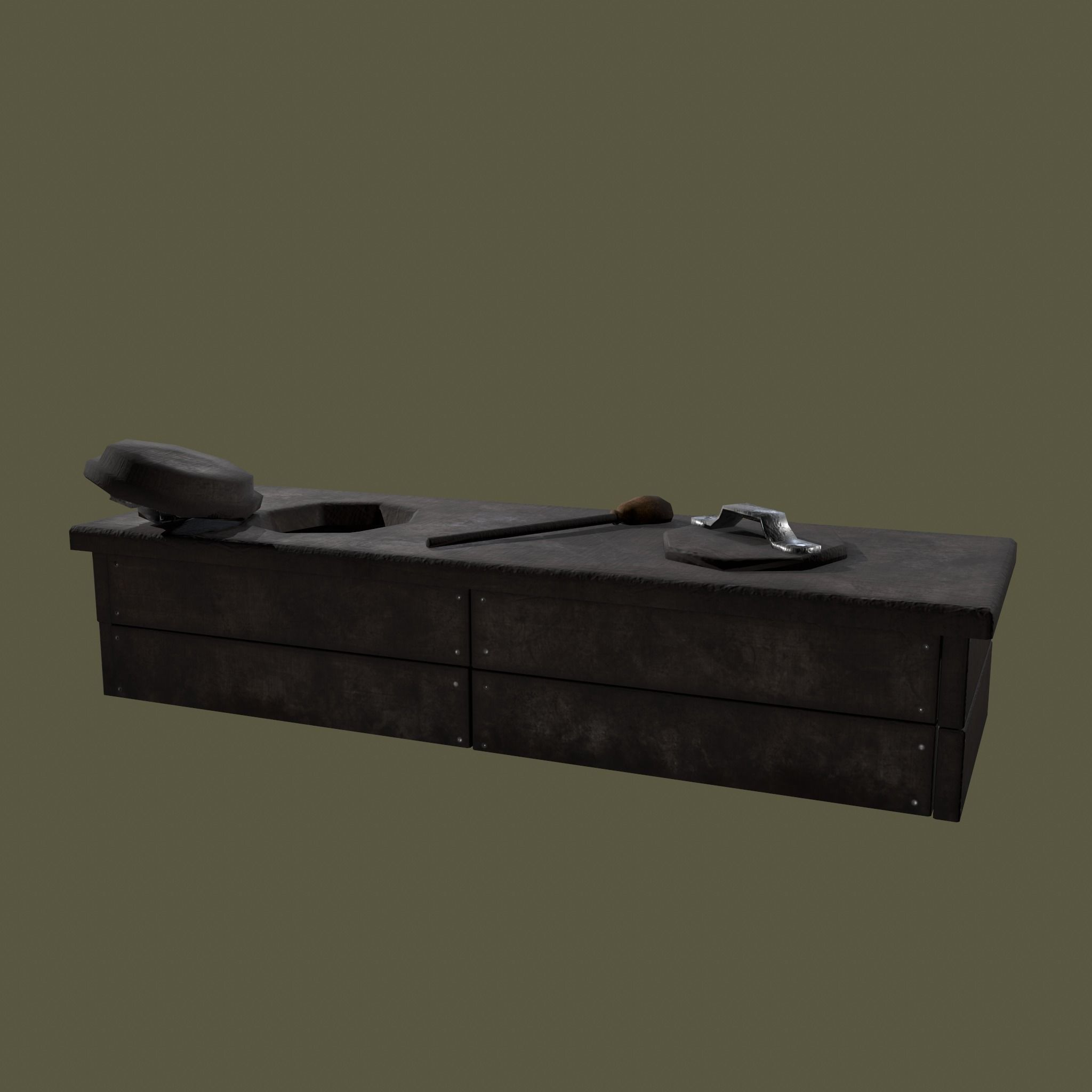 Medieval 2 Hole Toilet