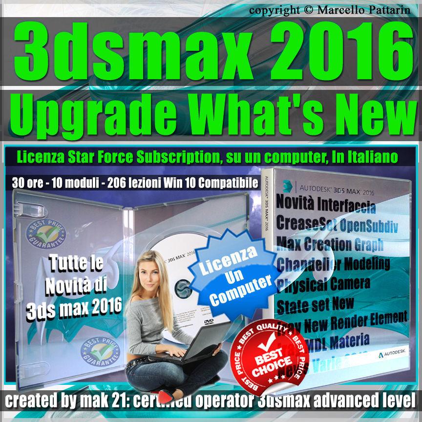 Corso 3ds max 2016 Upgrade What New Subscription un Computer