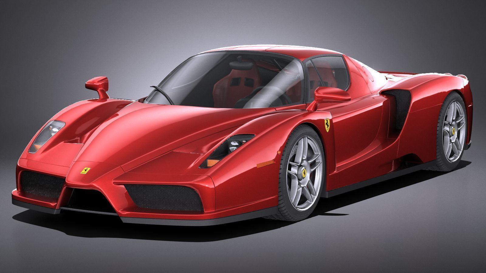 3d Model Hq Lowpoly Ferrari Enzo F60 2002 Cgtrader