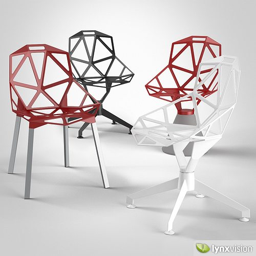 3d chair one magis cgtrader. Black Bedroom Furniture Sets. Home Design Ideas
